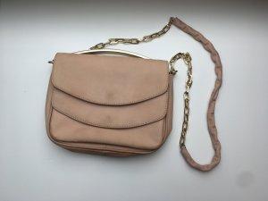 H&M Clutch / nude / Genuine Leather