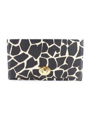 H&M Clutch schwarz-creme abstraktes Muster Elegant