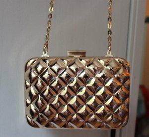 H&M Clutch Tasche aus Metall, Farbe gold, NEU mit Etikette