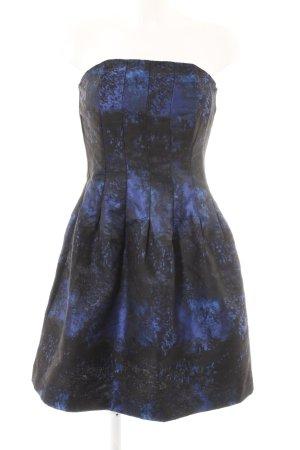 H&M Cocktailkleid blau-schwarz Farbtupfermuster Elegant
