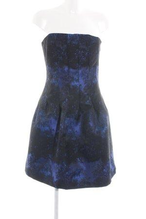 H&M Cocktailkleid blau-schwarz abstraktes Muster Elegant