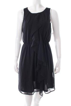 H&M Cocktailkleid schwarz Rüschenbesatz