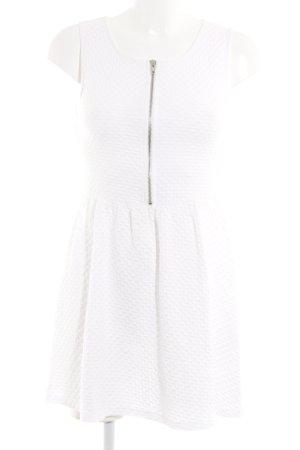 H&M Cocktailkleid weiß abstraktes Muster Empire-Look