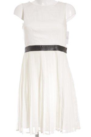 H&M Cocktailkleid weiß-schwarz Elegant