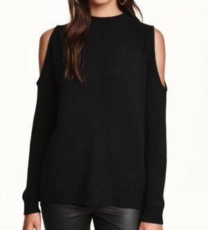 h&m Cold Shoulder Pullover L schwarz Cut outs Strickpullover cos