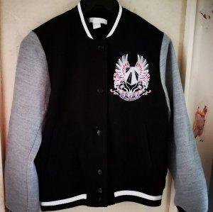 H&M College Jacket black-grey