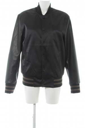 H&M College Jacket black-khaki college style