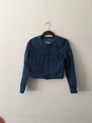 H&M Concious blaue Denim Kurzjacke 36