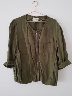 H&M Conscious Collection Blouson aviateur gris vert-kaki