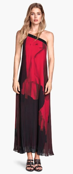 H&M Conscious ausverkauft: One Shoulder Dress Maxikleid Plissé NEU!