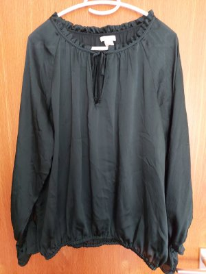 H&M Conscious Collection Slip-over Blouse dark green