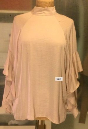 H&M Conscious Collection Stand-Up Collar Blouse cream