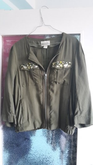 H&M conscious bomber Jacke navy grün