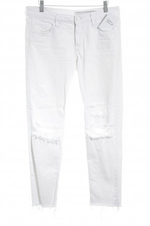 H&M Conscious Collection 7/8 Jeans weiß Casual-Look