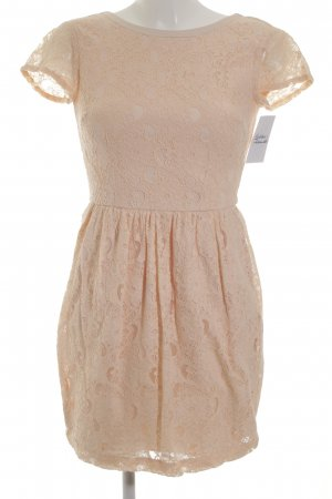 H&M Conscious Collection A-Linien Kleid apricot florales Muster Party-Look