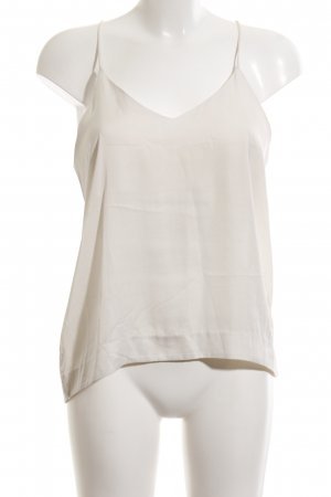 H&M Conscious Collection ärmellose Bluse wollweiß Casual-Look
