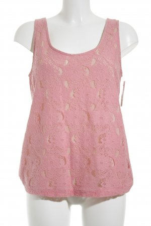 H&M Conscious Collection ärmellose Bluse rosa-creme florales Muster