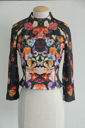 H&M Conscious Collection Blouse à col montant multicolore polyester