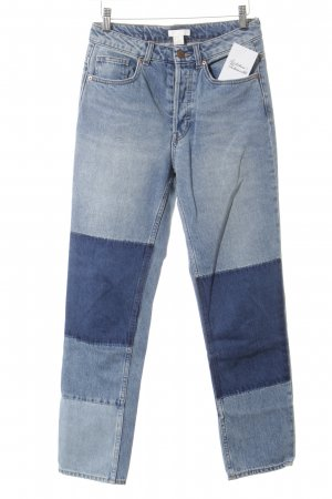 H&M Conscious Collection Boyfriendjeans mehrfarbig Patchwork-Optik