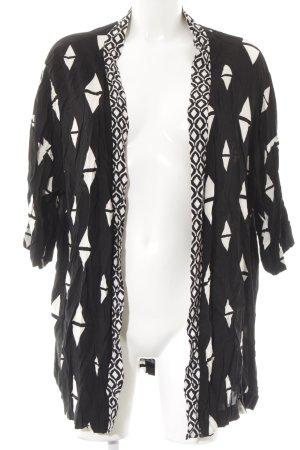 H&M Conscious Collection Cardigan schwarz-weiß grafisches Muster