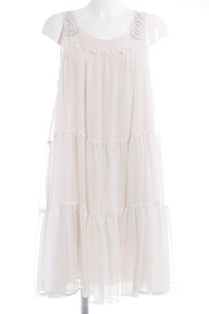 H&M Conscious Collection Chiffonkleid creme-weiß Romantik-Look