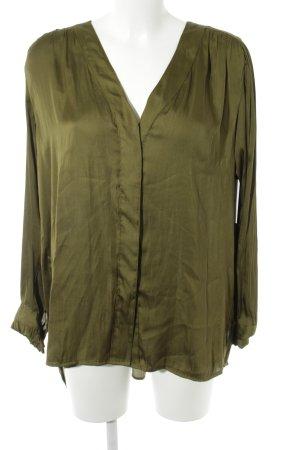 H&M Conscious Collection Blusa brillante verde oliva elegante