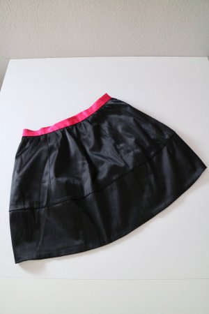 H&M Conscious Collection High Waist Skirt black-magenta recycled material
