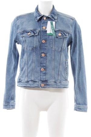 H&M Conscious Collection Jeansjacke blau Jeans-Optik