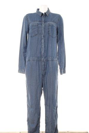 H&M Conscious Collection Tuta blu scuro-blu acciaio stile jeans