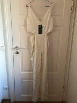 H&M Conscious Collection Jumpsuit Overall Onepiece Einteiler Hosenanzug Hose Weiß Limitiert NEU mit Etikett