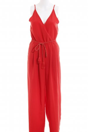 H&M Conscious Collection Jumpsuit rot Elegant