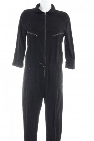 H&M Conscious Collection Jumpsuit schwarz Street-Fashion-Look