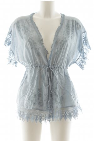 H&M Conscious Collection Kimono Blouse blue casual look