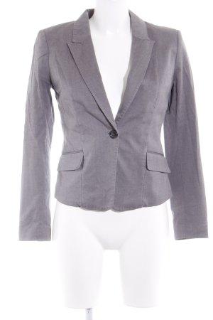 H&M Conscious Collection Kurz-Blazer grau-schwarz Business-Look