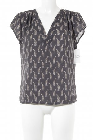 H&M Conscious Collection Kurzarm-Bluse Animalmuster Animal-Look