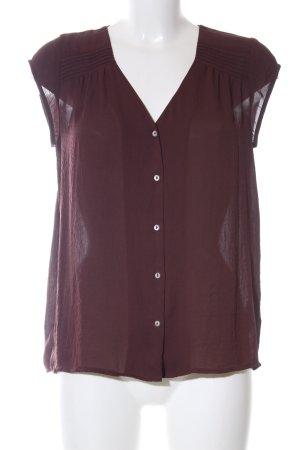 H&M Conscious Collection Kurzarm-Bluse braun Casual-Look
