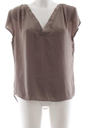 H&M Conscious Collection Kurzarm-Bluse grüngrau Elegant