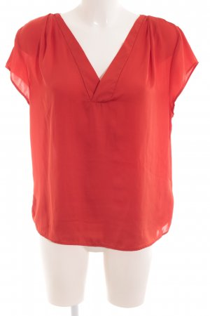 H&M Conscious Collection Kurzarm-Bluse rot Casual-Look