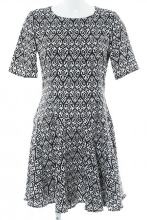 H&M Conscious Collection Kurzarmkleid abstraktes Muster Casual-Look