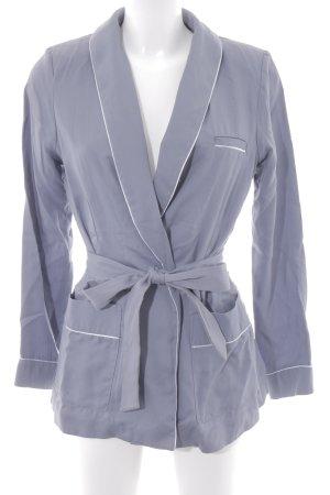 H&M Conscious Collection Lange Jacke graublau-himmelblau schlichter Stil