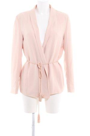 H&M Conscious Collection Blazer largo nude-rosa claro estilo «business»