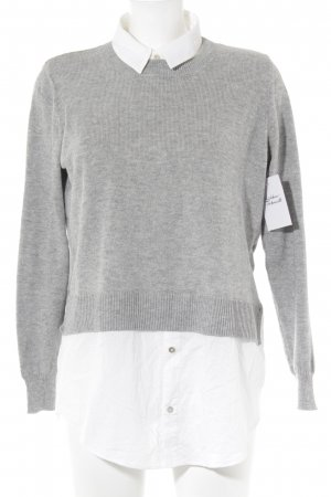 H&M Conscious Collection Sweater Twin Set light grey-natural white