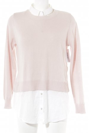 H&M Conscious Collection Jersey Twin-Set blanco puro-rosa empolvado