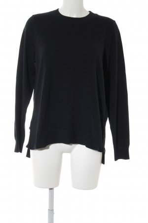 H&M Conscious Collection Rundhalspullover dunkelblau Casual-Look