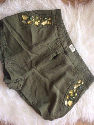 H&M Conscious Collection Shorts 36 S neu Steinchen khaki