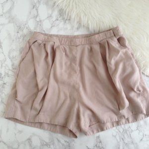 H&M CONSCIOUS COLLECTION Shorts 36 S Rosa Rosé 100 % Baumwolle Nude Highwaist