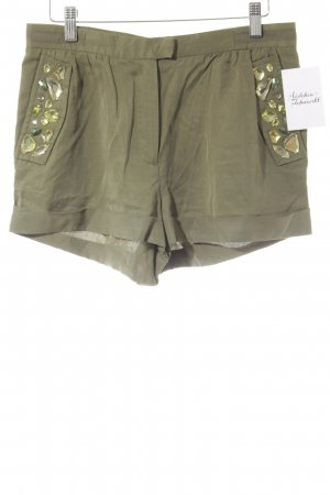 H&M Conscious Collection Shorts grüngrau Beach-Look