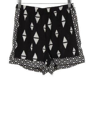 H&M Conscious Collection Shorts schwarz-weiß grafisches Muster Beach-Look