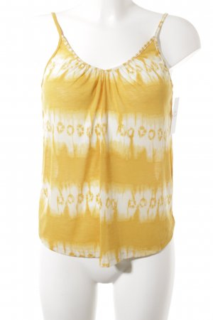 H&M Conscious Collection Spaghetti Strap Top gold orange-white batik pattern