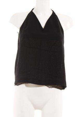 H&M Conscious Collection Haut à fines bretelles noir style romantique